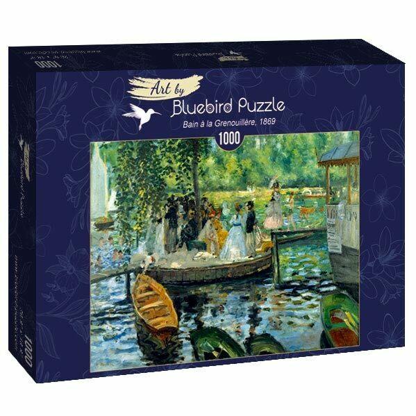 PUZZLE 1000 pcs - Renoir - La Grenouillère 1869 - BLUEBIRD