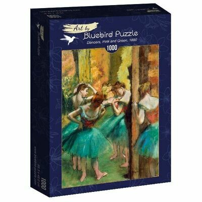 PUZZLE 1000 pcs - Degas, Dancers, Pink and Green, 1890 - BLUEBIRD