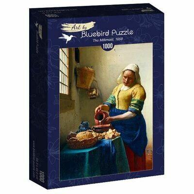 PUZZLE 1000 pcs - Vermeer - The Milkmaid, 1665 - BLUEBIRD