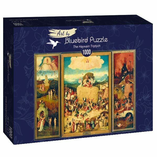 PUZZLE 1000 pcs - Bosch - The Haywain Tryptych - BLUEBIRD