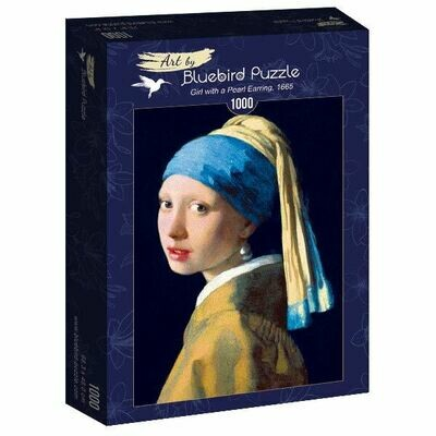 PUZZLE 1000 pcs - Vermeer - Girl with a Pearl Earing, 1665 - BLUEBIRD