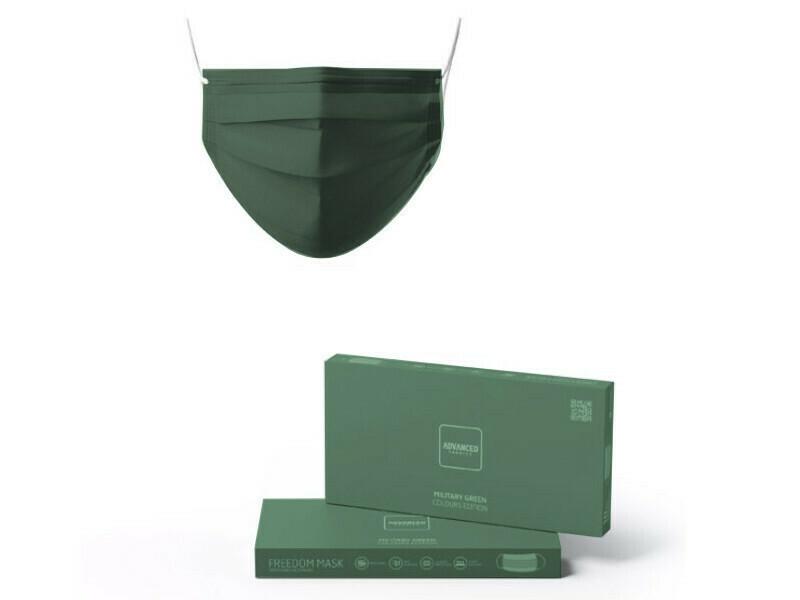 CX 10 MASCARAS descartáveis Military Green Freedom advanced