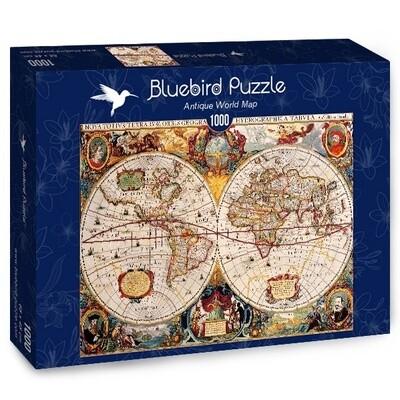 PUZZLE 1000 pcs - Mapa Mundial Antigo - BLUEBIRD