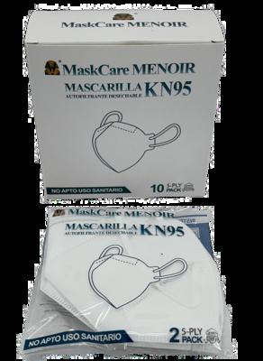 CX C/ 10 MASCARAS KN95 Descartáveis cor Branco