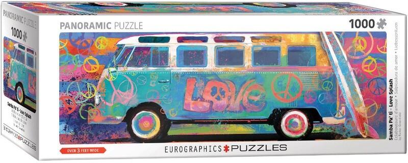 PUZZLE 1000 pcs Panoramic- Love Splash - Eurographics