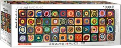PUZZLE 1000 pcs Panoramic- Kadinsky - Color Square- Eurographics