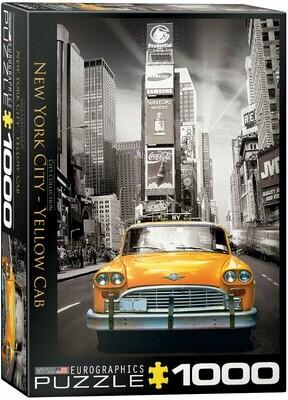 PUZZLE 1000 pcs New York Yellow Cab - Eurographics