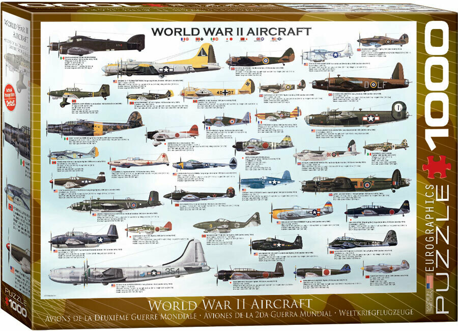 PUZZLE 1000 pcs Aviões WWII - Eurographics