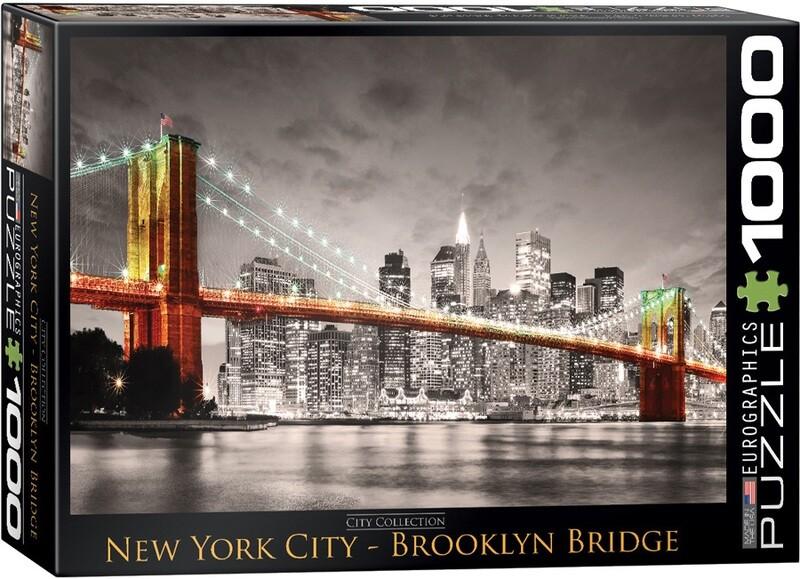 PUZZLE 1000 pcs New York City Brooklyn Bridge - Eurographics