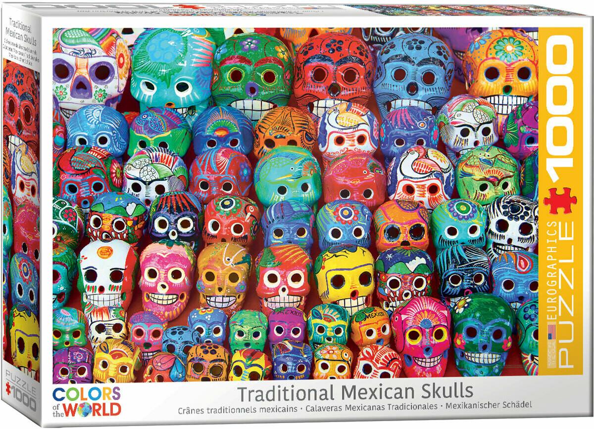 PUZZLE 1000 pcs Mexican Skulls - Eurographics