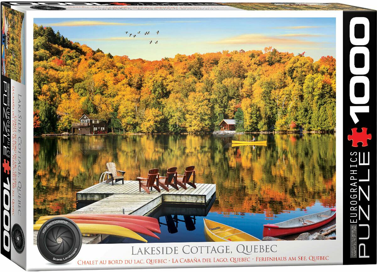 PUZZLE 1000 pcs Lakeside Cottage Quebec - Eurographics