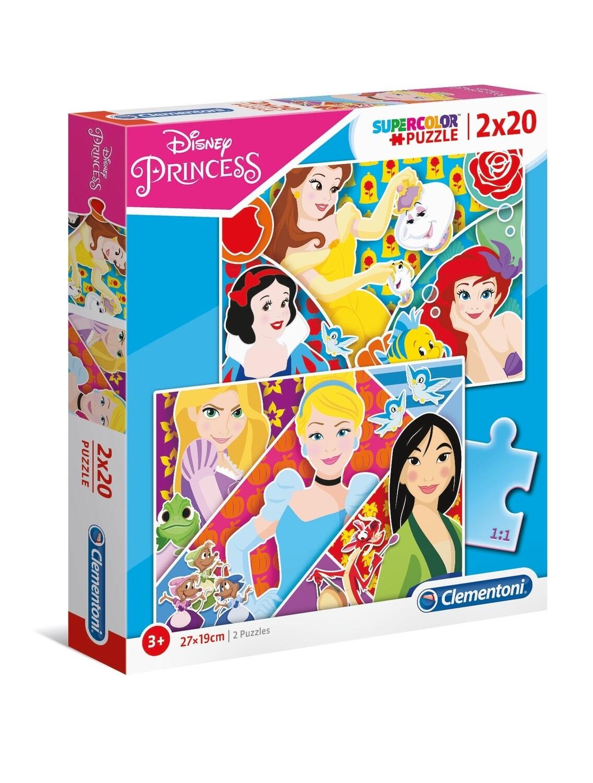 PUZZLE Princesas 2x20 pcs - CLEMENTONI