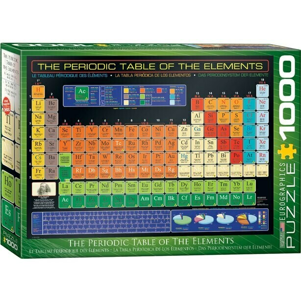 PUZZLE 1000 The Periodic Table Of The Elements EUROGRAPHICS