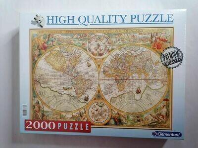 PUZZLE 2000 pcs - HQ Mapa Antigo - CLEMENTONI