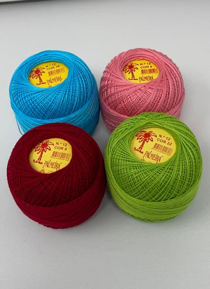 Linha PALMEIRA para Croché Nº6/12 50grs cores sort.