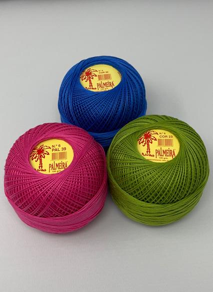 Linha PALMEIRA para Croché 6/12 100grs cores sort.