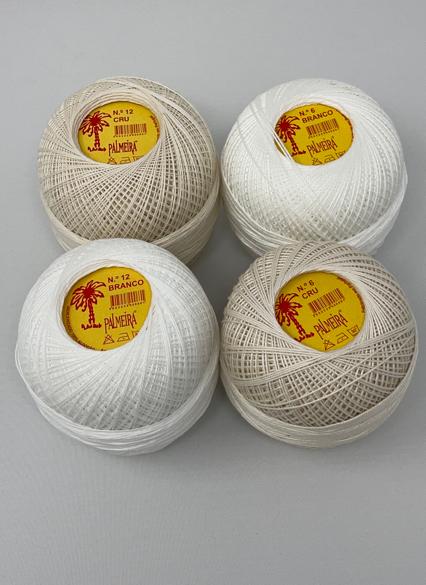 Linha PALMEIRA para Croché Nº6/12 100grs Branco Cru