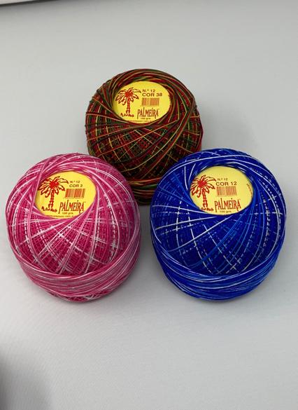Linha PALMEIRA para Croché Nº6/12 100grs matizada