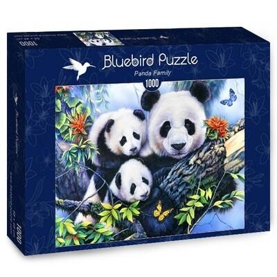 PUZZLE 1000 pcs - Familia Panda - BLUEBIRD