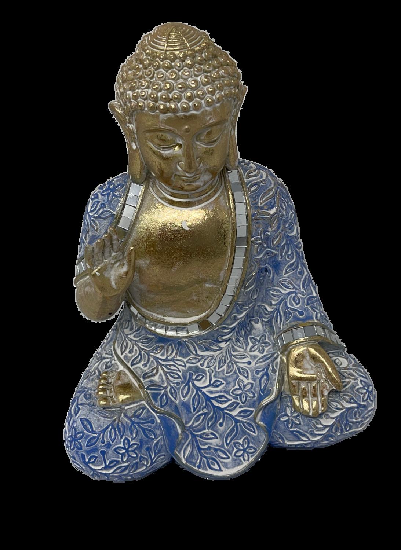 Buda Resina 28cm Pernas Cruzadas