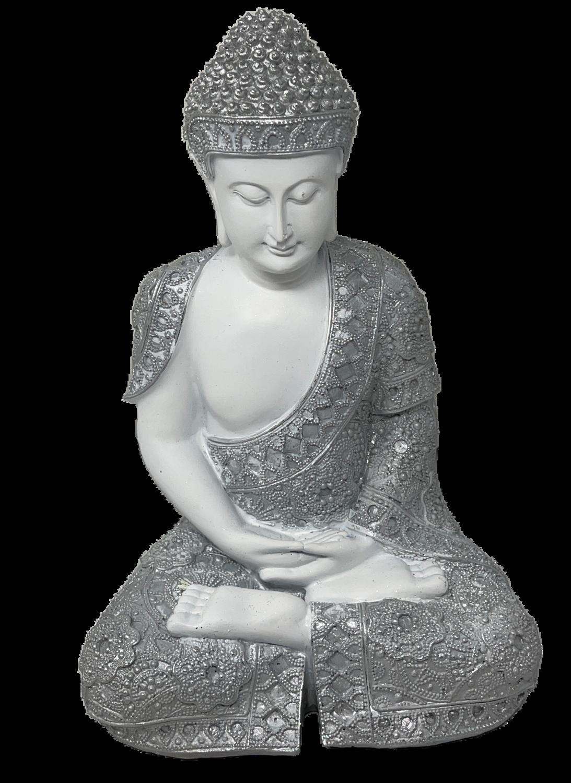 Deusa Hindu branca c/Prata 35cm 77330