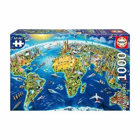 PUZZLE 1000 pcs MINI - Simbolos do Mundo - EDUCA