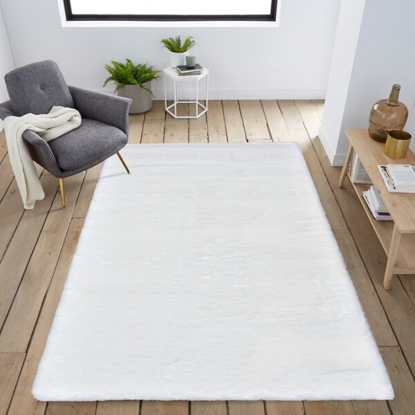 Tapete Bunny Ivory Branco 65x130cm