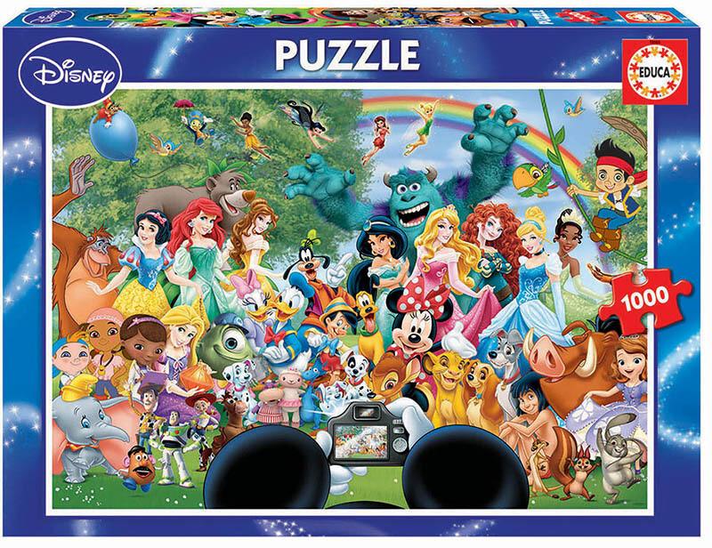 PUZZLE 1000 pcs - MAravilhoso Mundo Disney 2 - EDUCA
