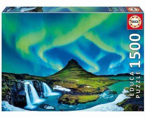 PUZZLE 1500 pcs - Aurora Boreal - Islândia - EDUCA