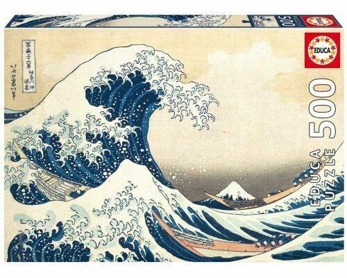 PUZZLE 500 pcs - The Great Wave of Kanagawa - EDUCA