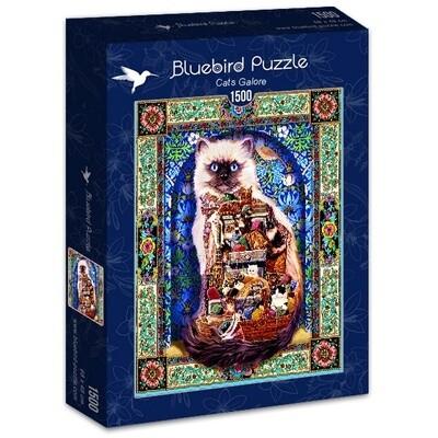 PUZZLE 1500 pcs - Cats Galore - BLUEBIRD