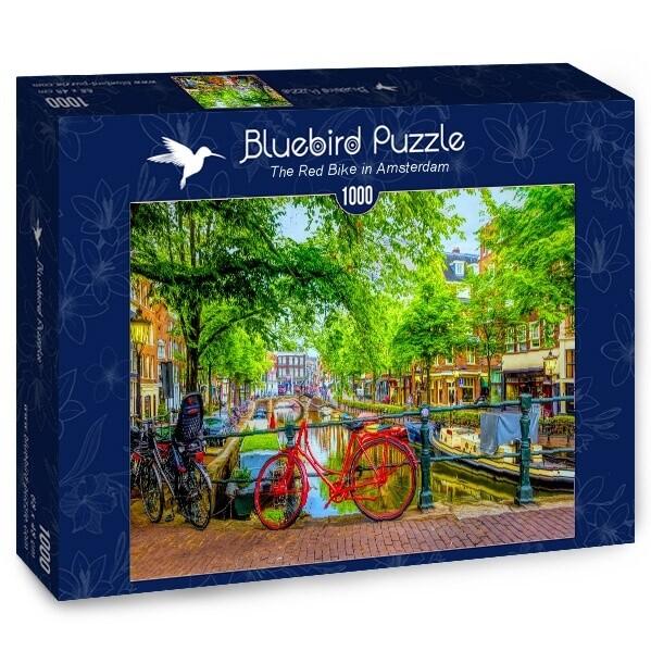 PUZZLE 1000 pcs - Red Bike in Amsterdam - BLUEBIRD