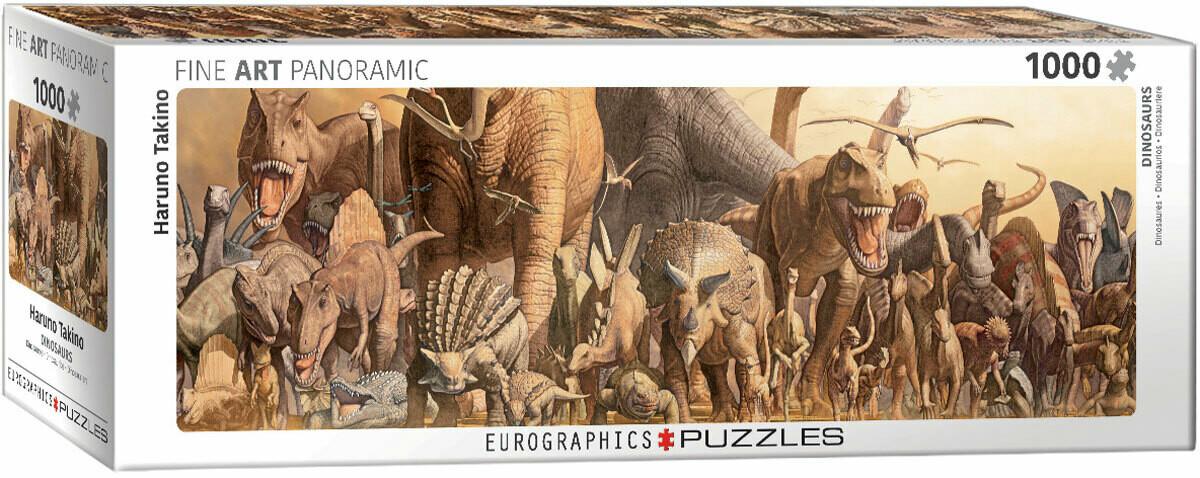PUZZLE 1000 pcs Dinossauros- Eurographics