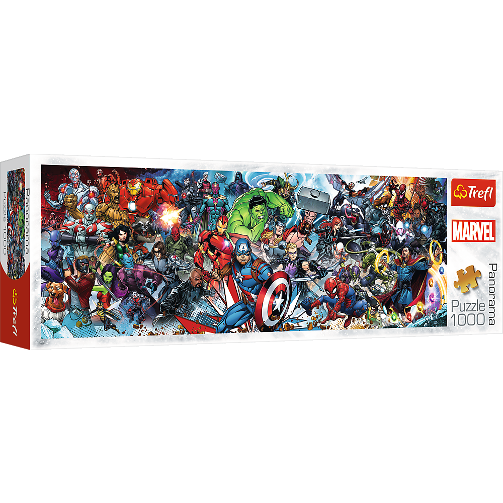 PUZZLE 1000 pcs - Join the Marvel Universe - Panoramic - TREFL