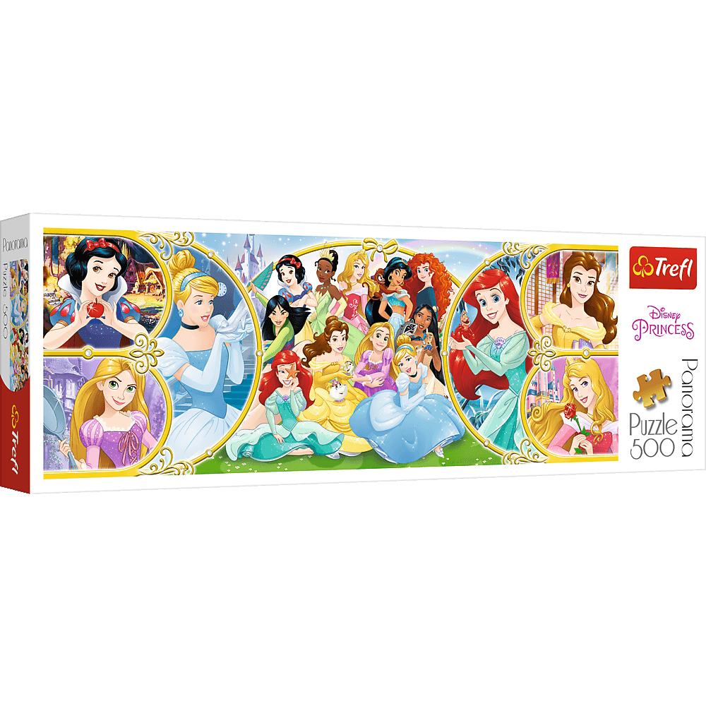 PUZZLE 500 pcs PANORAMIC - Princesas Disney - TREFL