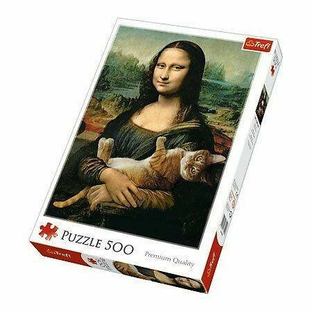 PUZZLE 500 pcs - Mona Lisa e Gato - TREFL