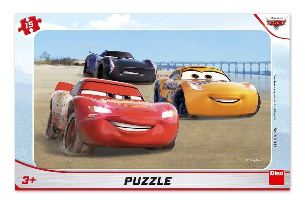 PUZZLE Frame 15 pcs - Cars Racing - DINO