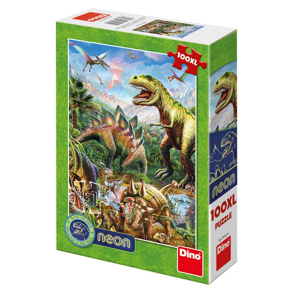 PUZZLE 100 pcs XL NEON Dinossauros - DINO
