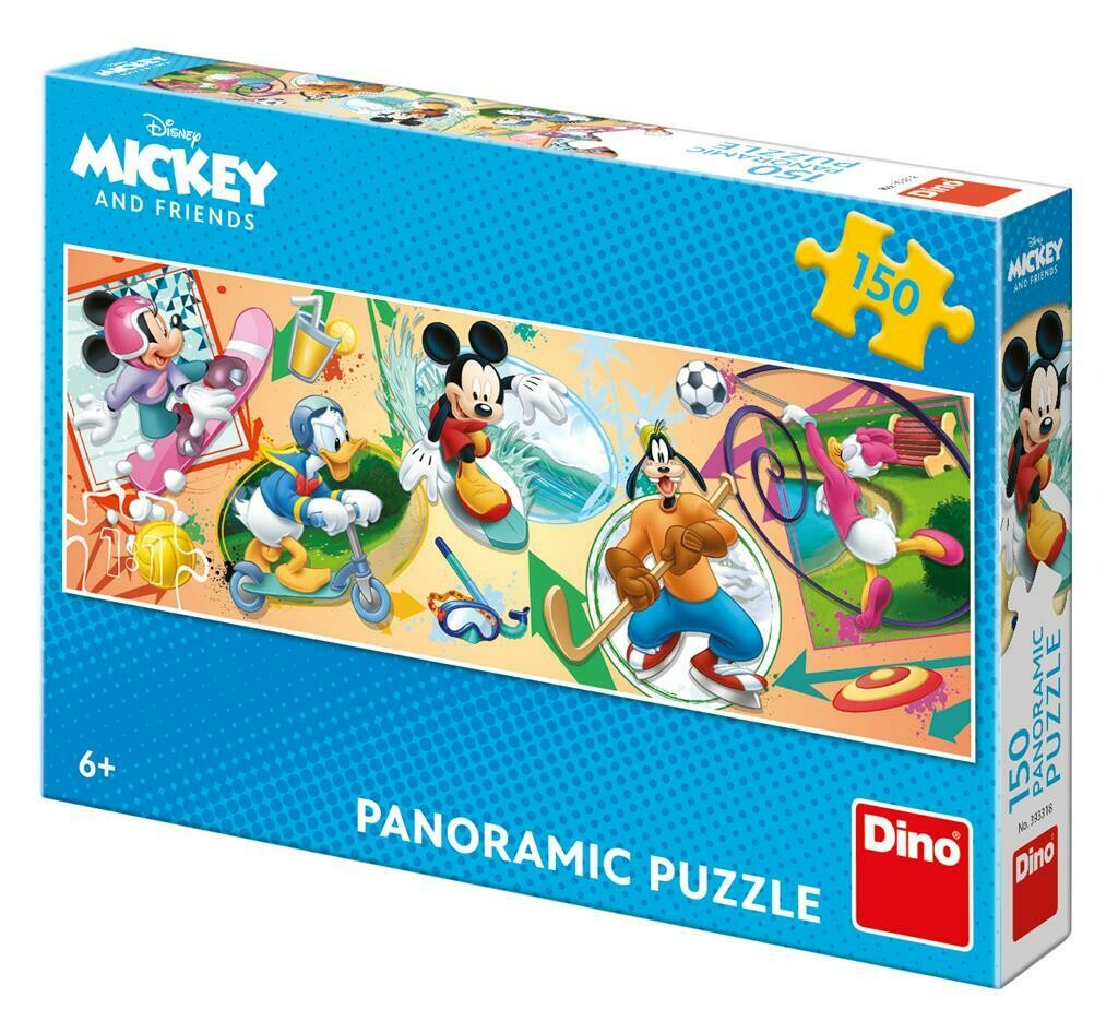 PUZZLE 150 pcs Panoramic - Mickey - Disney - DINO