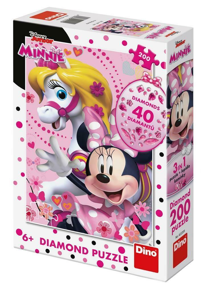 PUZZLE 200 pcs DIAMONDS Minnie Mouse - Disney - DINO