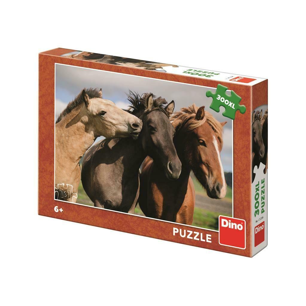 PUZZLE 300 pcs XL Cavalos Castanhos - DINO