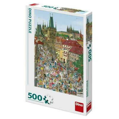 PUZZLE 500 pcs - Bridge Tower -Praga - DINO