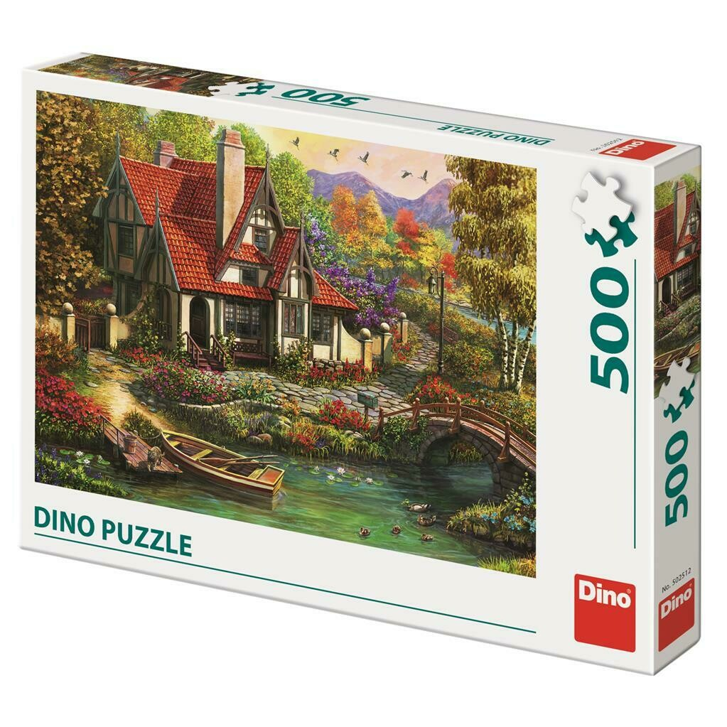 PUZZLE 500 pcs - Cottage by the Lake - DINO