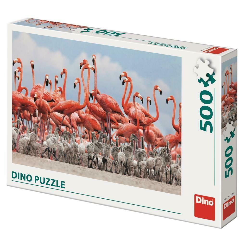PUZZLE 500 pcs - Flamingos - DINO