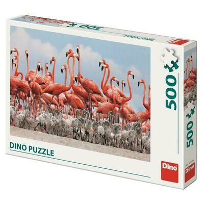 PUZZLE 500 pcs - Flamingos - DINO
