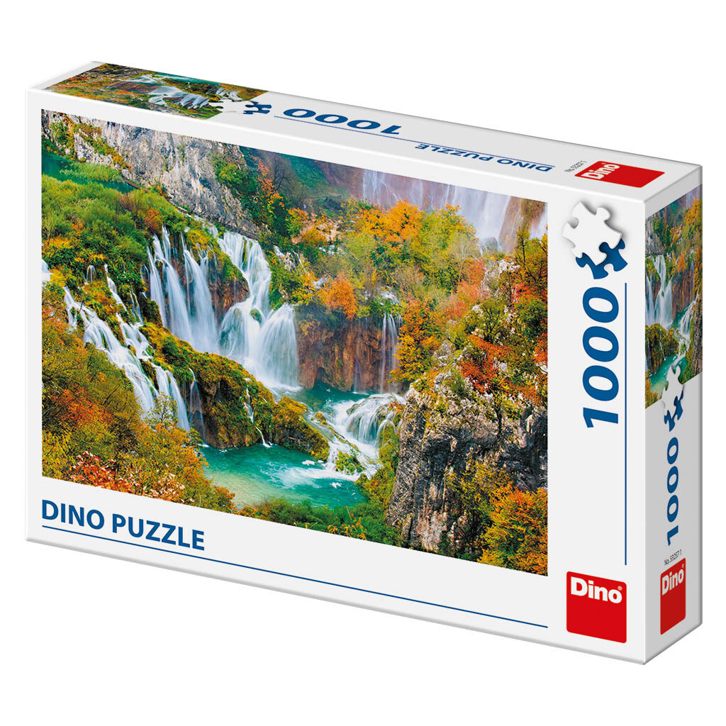PUZZLE 1000 pcs - Lago de Plitvice - DINO
