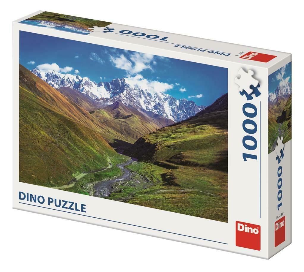 PUZZLE 1000 pcs - Montanha Shkhara - DINO
