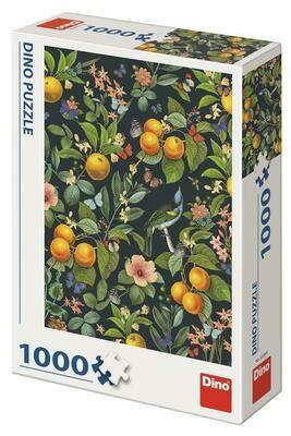 PUZZLE 1000 pcs - Laranjas e Flores - DINO