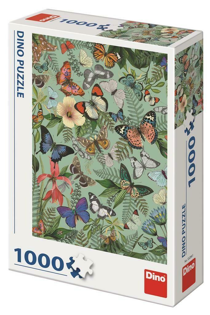 PUZZLE 1000 pcs - Prado de Borboletas - DINO