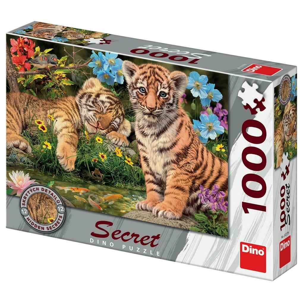 PUZZLE 1000 pcs - Tigres - SECRET Colection - DINO